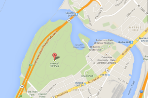 Close up map of Inwood Hill Park