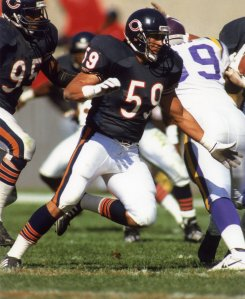 Ron Rivera playing for the Bears