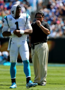 Ron Rivera with Cam Newton