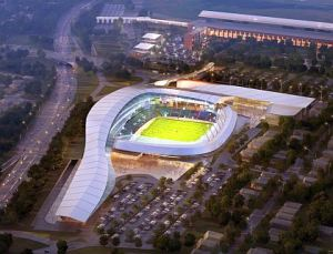 The proposed Cosmos Elmont stadium.